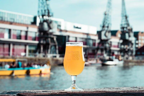Glass of Bristol Beer Factory by the Docks in Bristol