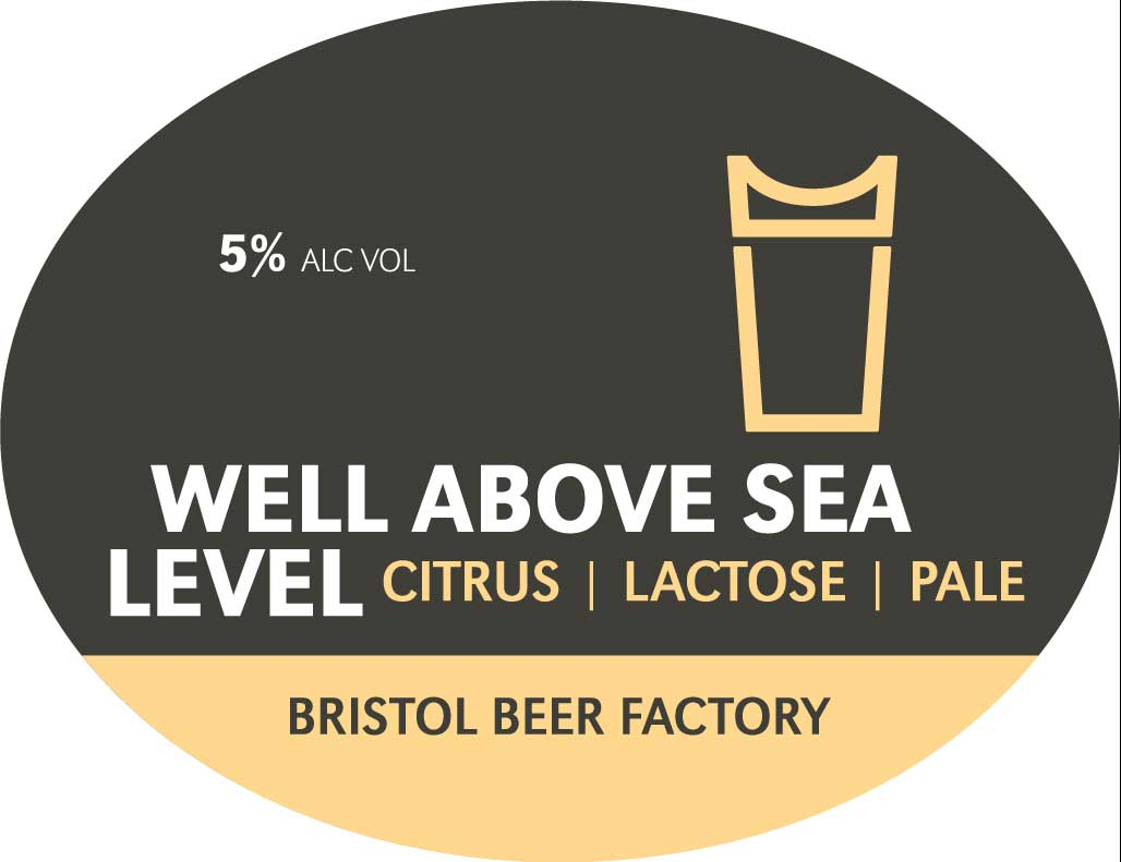 Well Above Seal Level oval keg badge