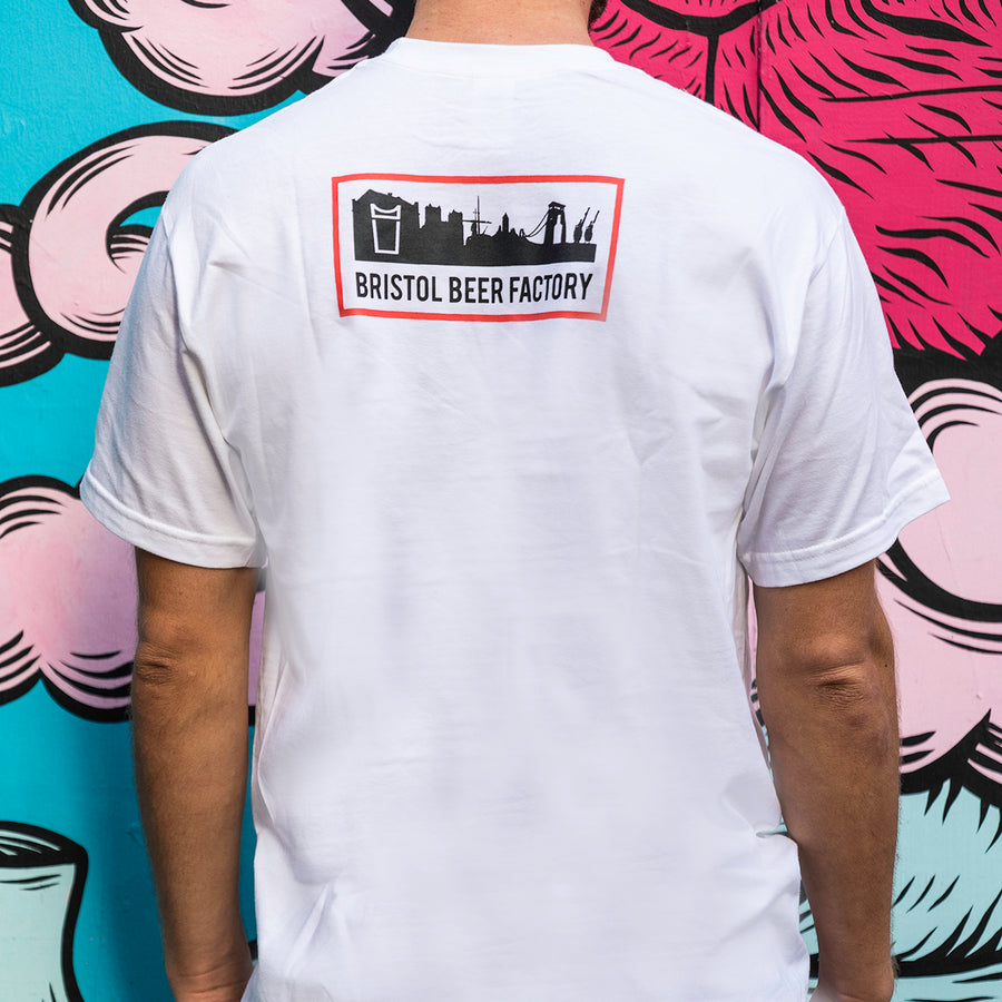 T-Shirt: White Logo
