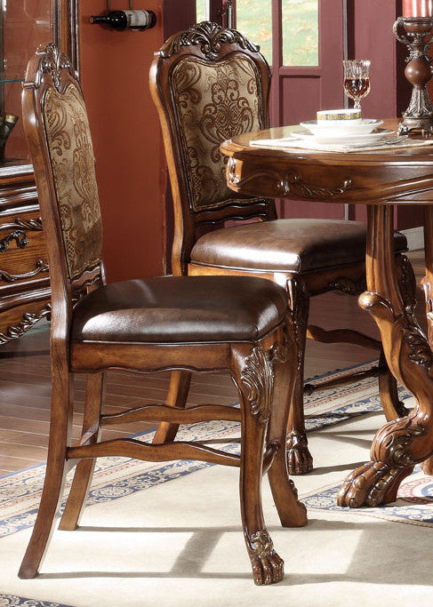 Acme Dresden Counter Height Dining Chairs in Brown Cherry Oak 12162 (Set of 2) image