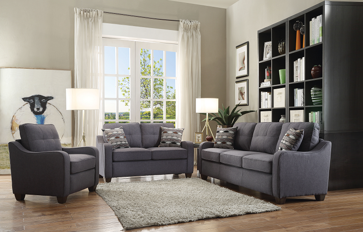 Cleavon II Gray Linen Sofa w/2 Pillows image