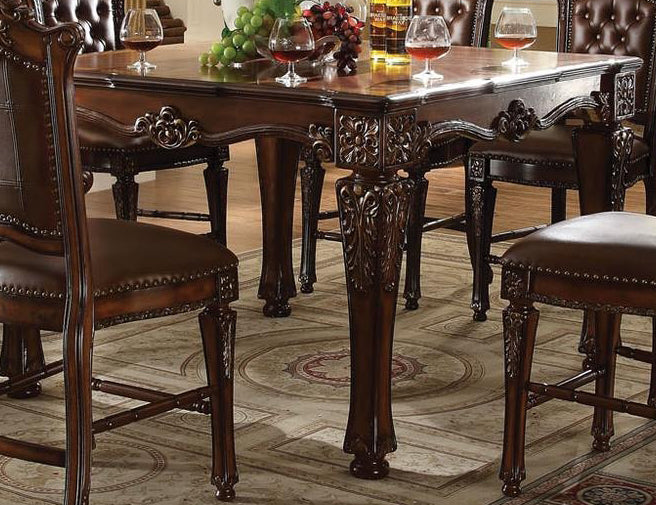 Acme Vendome Square Counter Height Table in Cherry 62025 CLOSEOUT image