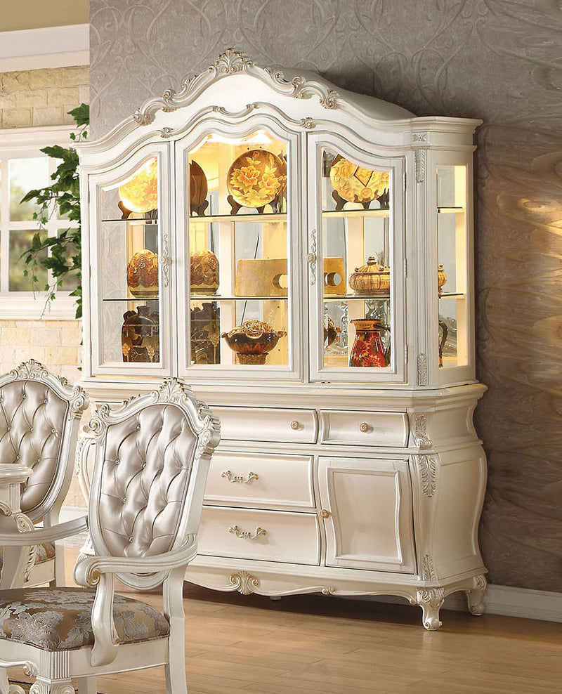 Acme Chantelle Buffet and Hutch in Pearl White 63544 image
