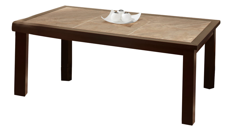 Global Furniture Marble Stone Top Dining Table in Brown Slate D040DT image