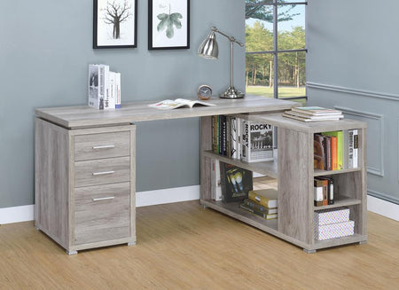 Yvette Grey Driftwood L-Shaped Office Desk image
