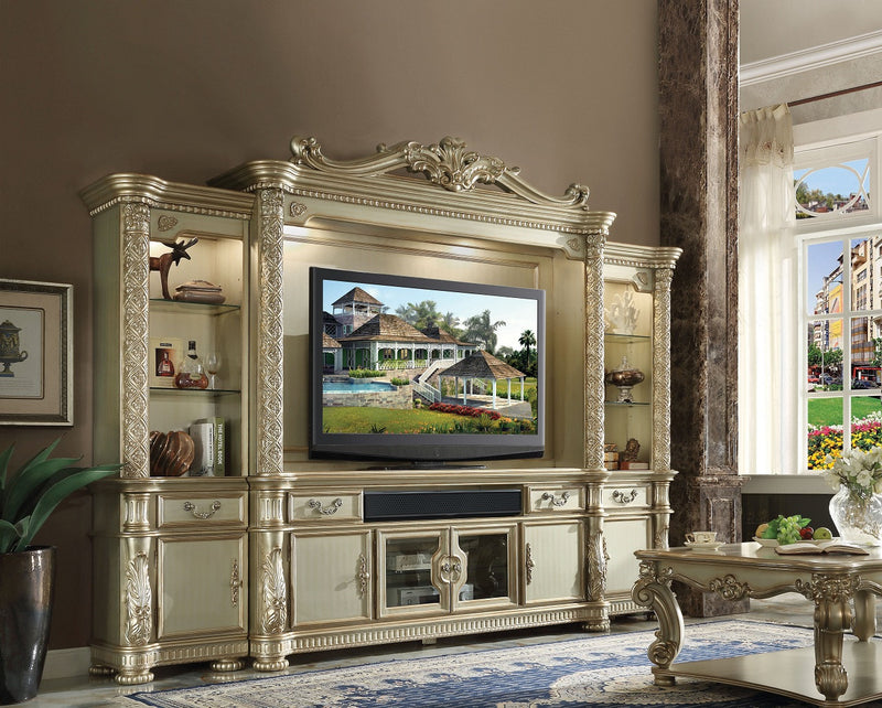 Acme Vendome TV Console in Gold Patina 91313 image