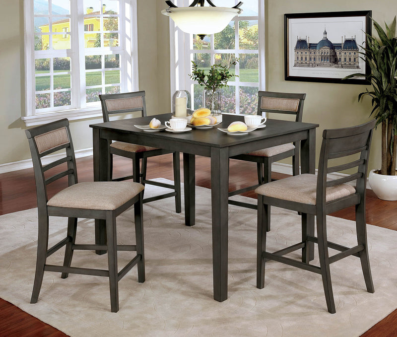 Fafnir Weathered Gray/Beige 5 Pc. Counter Ht. Table Set image