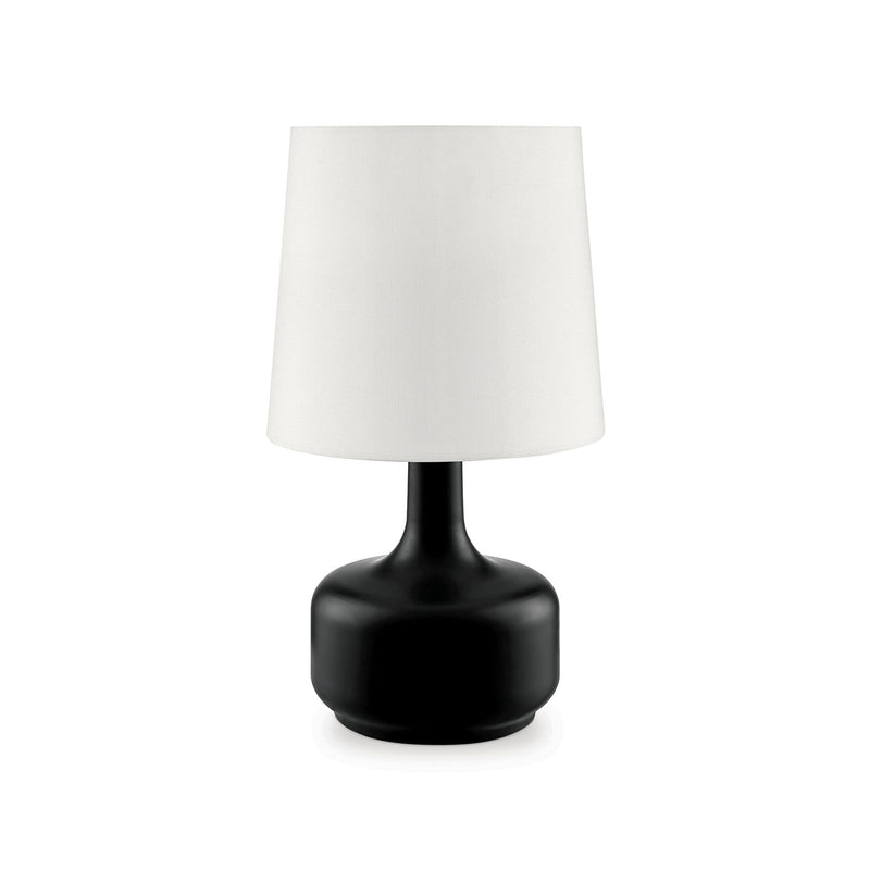 "Farah Black 17""H Matte Black Table Lamp image"
