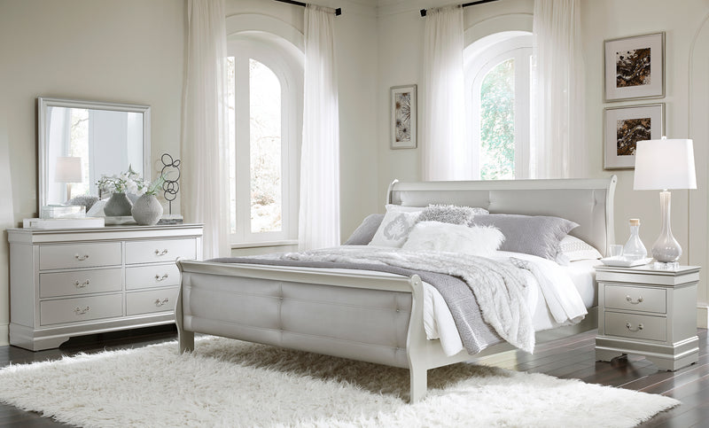 MARLEY QUEEN BED SILVER image