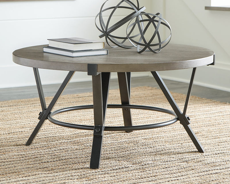 Zontini Signature Design by Ashley Round Cocktail Table image
