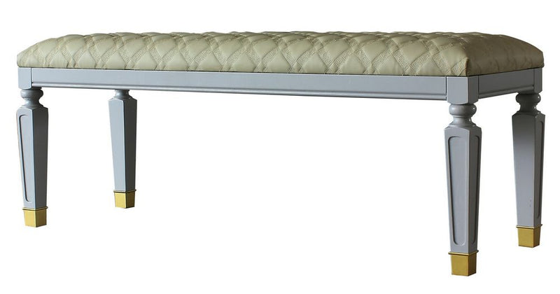 Acme Furniture House Marchese Bench in Pearl Gray 28867 image