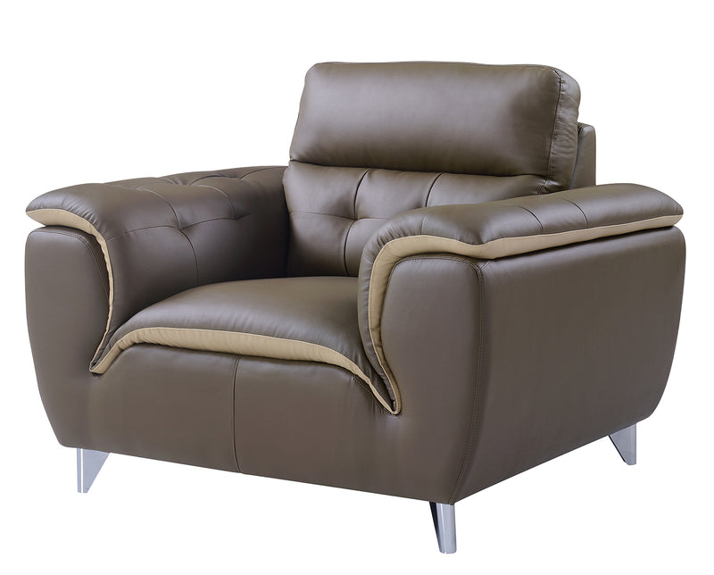 Global Furniture U7390 Chair in Dark Khaki/Cappuccino image