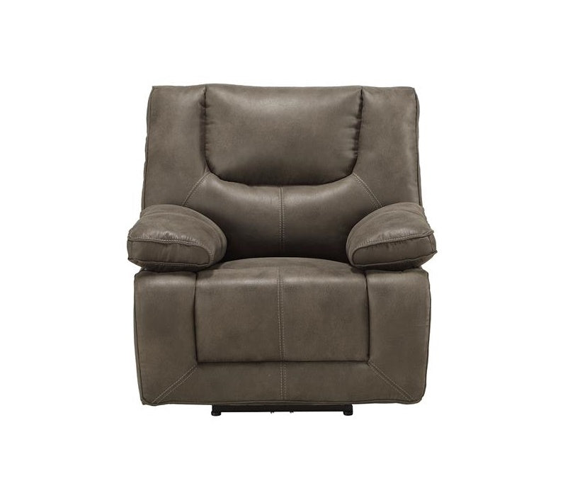 Acme Harumi Power Motion Recliner in Gray Leather-Aire 54897 image