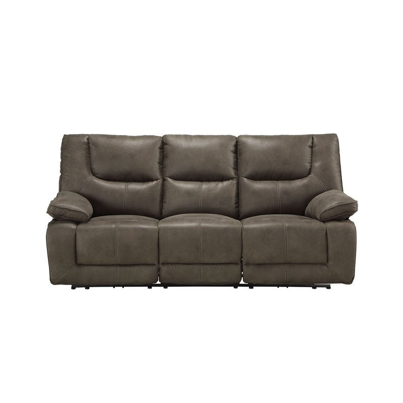 Acme Harumi Power Motion Sofa in Gray Leather-Aire 54895 image