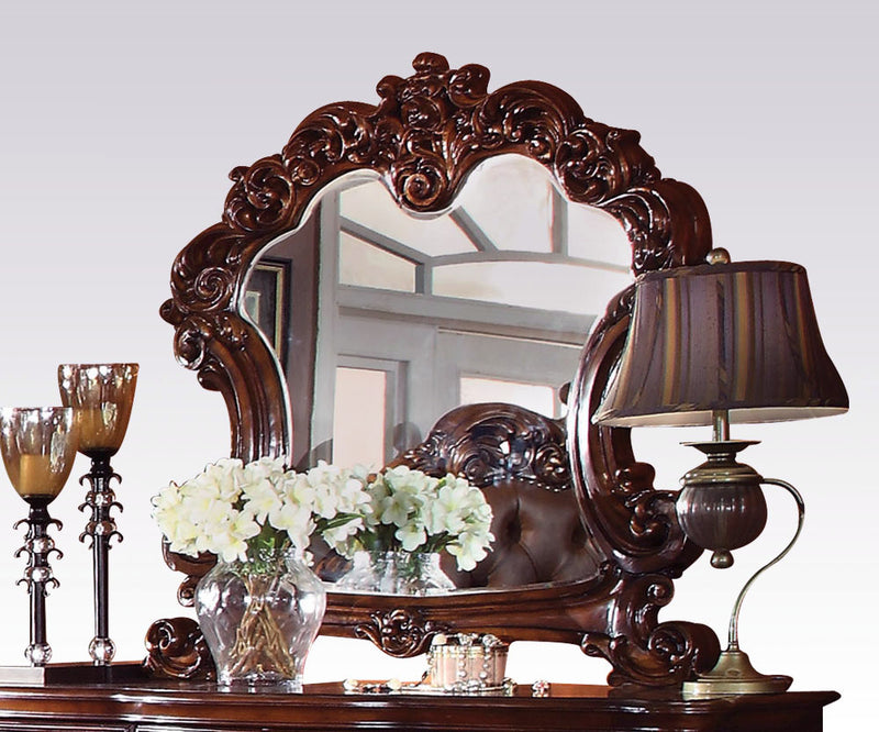 Acme Vendome Landscape Mirror with Intricate Details in Cherry 22004 image