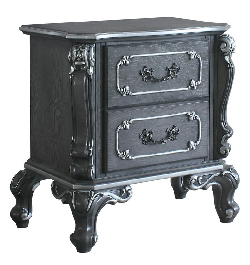 Acme Furniture House Delphine 2 Drawer Nightstand in Charcoal 28833 image