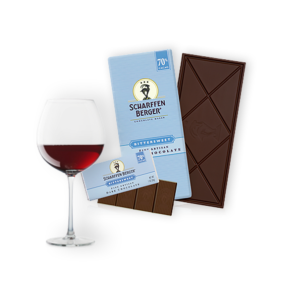 Bittersweet Chocolate Paired with Zinfandel