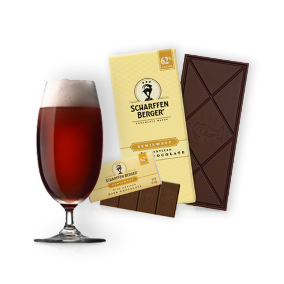 Image of lambic ale and 62% semisweet chocolate