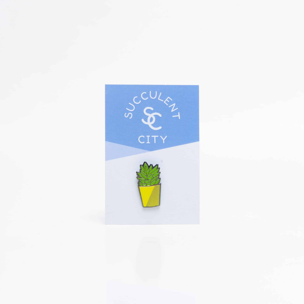 Ghost Plant Succulent Enamel Pin