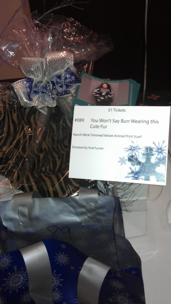 Image of a York Gift Card as a Prize in the St. Philip the Apostle Parent Association Winter Wonderland Fashion Show