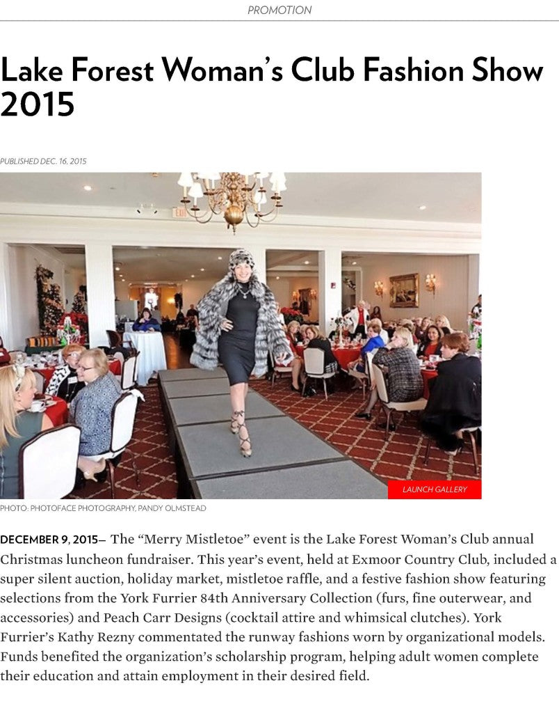 Lake Forest Woman's Club Fashion Show 2015 | Chicago magazine | Chicago December 2015_Page_1