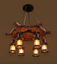 "Load image into Gallery viewer, ""The Captain"" - Vintage Nautical Pendant Light"