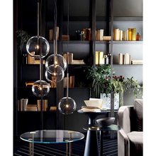 "Load image into Gallery viewer, ""Crystal Bubble"" - Simple & Modern Pendant Light"