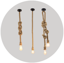 "Load image into Gallery viewer, ""Knot & Tie"" - Rope Hanging Light"