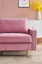 "Load image into Gallery viewer, ""Modern Velvet"" - Vintage Style Sofa"
