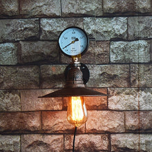 "Load image into Gallery viewer, ""Steam Hood"" Steampunk Wall Lamp"