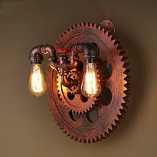 "Load image into Gallery viewer, ""Timeless Cogs"" Steampunk Wall Light"