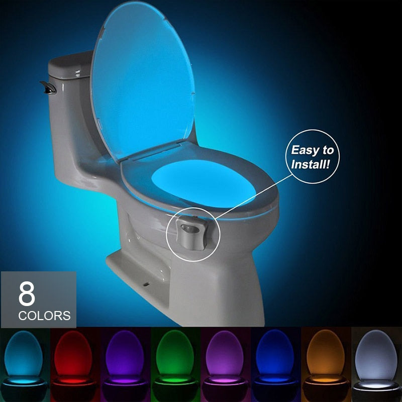 Motion Sensor Smart Toilet Night Light