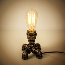 "Load image into Gallery viewer, ""Solo Wattage"" Steampunk Desk Lamp"