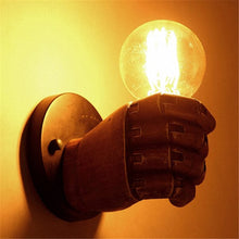 "Load image into Gallery viewer, ""The Fist"" Steampunk Wall Lamp"