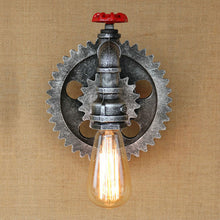 "Load image into Gallery viewer, ""Goin' Steampunk"" Wall Lamp"