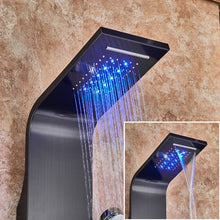 "Load image into Gallery viewer, ""The Ultimate Shower"" - LED, Waterfall, Massage Shower Panel"