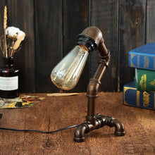"Load image into Gallery viewer, ""Classic Watt"" Steampunk Desk Lamp"