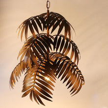 "Load image into Gallery viewer, ""Palm Paradise"" - Antique Bronze Chandelier"