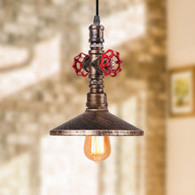 "Load image into Gallery viewer, ""The Spout"" Steampunk Ceiling Light"