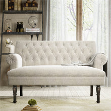 "Load image into Gallery viewer, ""Europe with Love"" - Grey Chesterfield Love Seat"