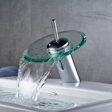 "Load image into Gallery viewer, ""Glass Edge"" - Contemporary Bathroom Sink Faucet"