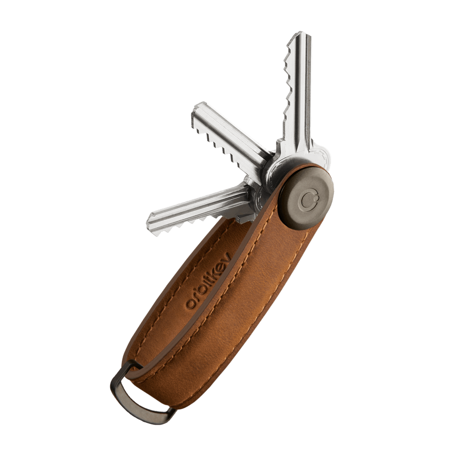 OrbitKey Key Organizer crazyhorse chestnut-brown