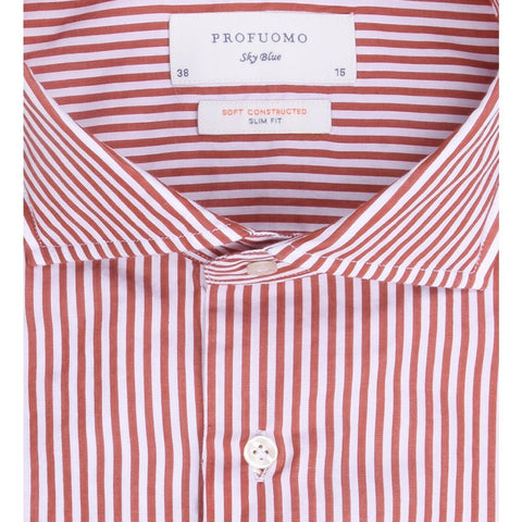 PROFUOMO Stripes JAPANESE KNITTED SHIRT