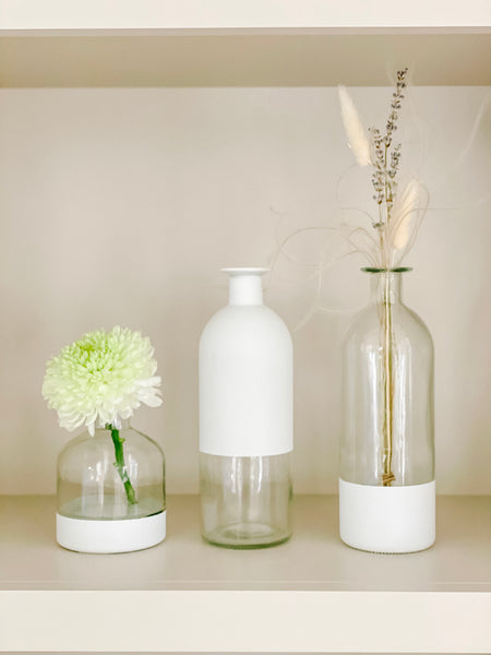 Trio of Bud Vases - Varying Sizes - currently sold out.  Restocking mid April