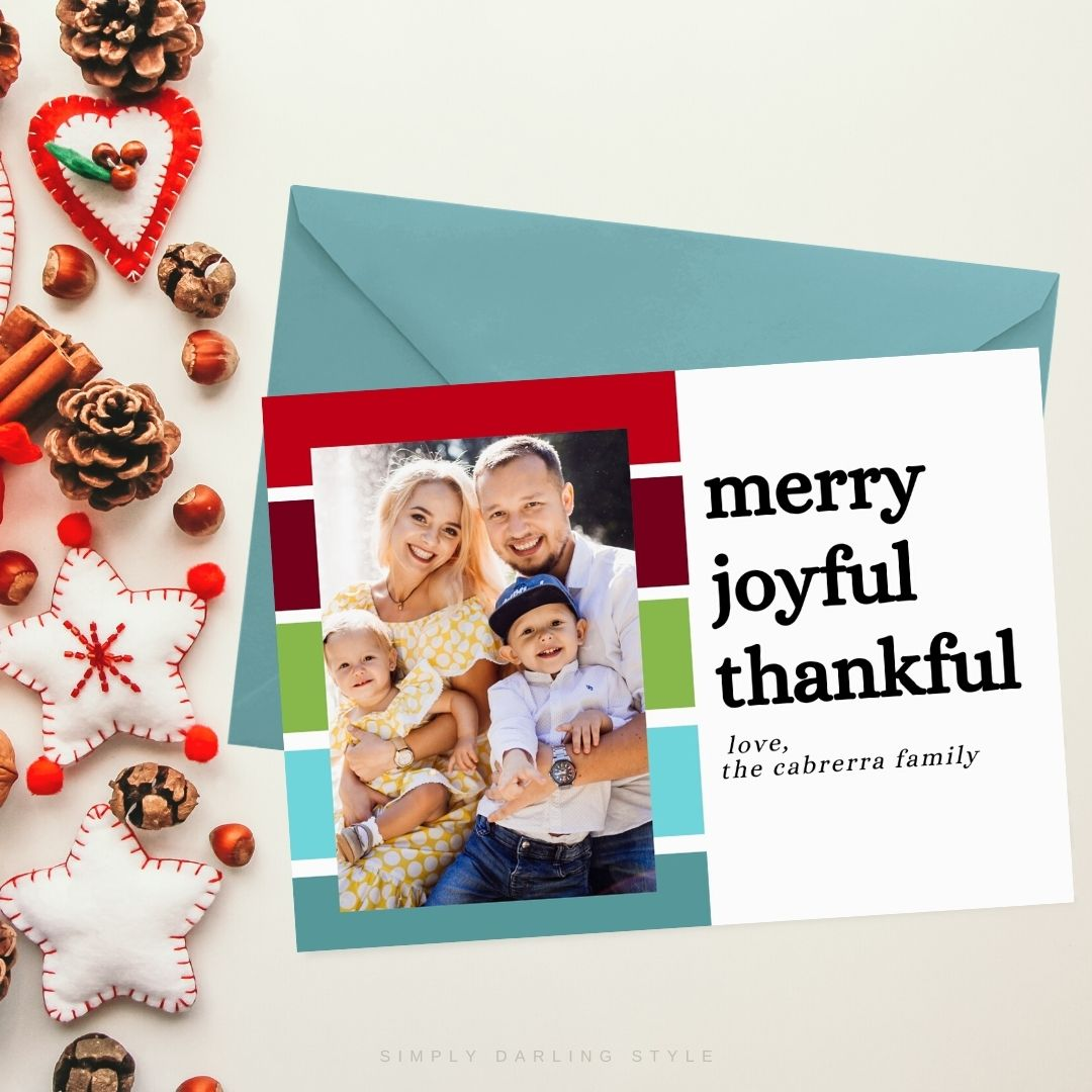 Bold Stripes Christmas Card