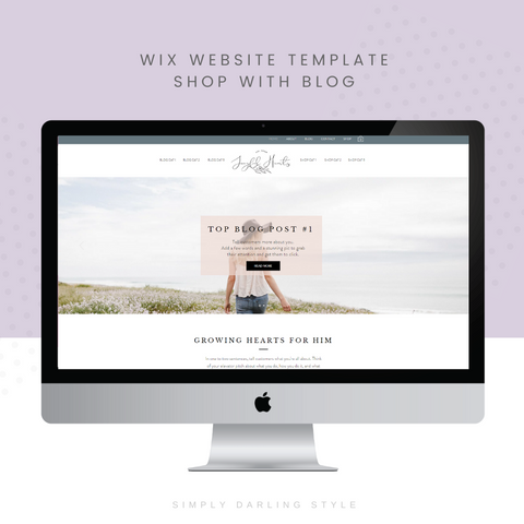 Joyful Hearts Shop with Blog WIX Website Template