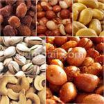 Bulk nuts for sale including: cashews, peanuts, almonds, and more