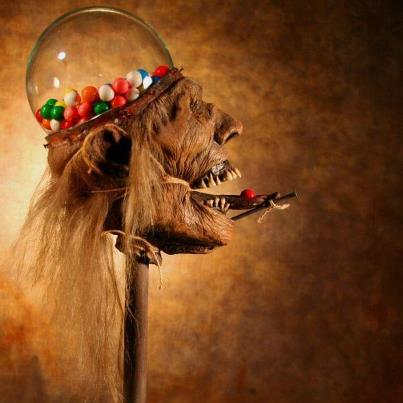 Scary Shrunken Head Gumball Machine