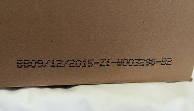 Date code on printed on box of Ford gumballs