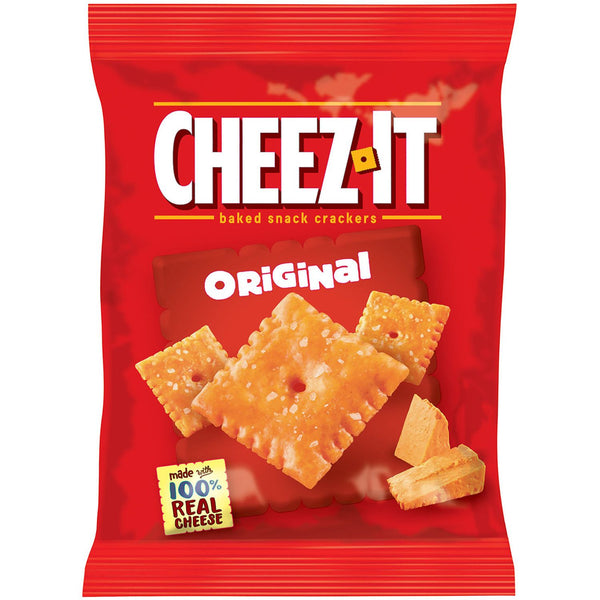 Cheez-It baked snack crackers cheese front of 1.5 oz bag